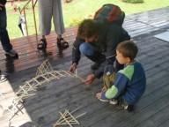 Staročeské hry - stavby z dřívek