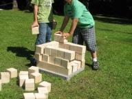 Stavění z dřevěných kostek